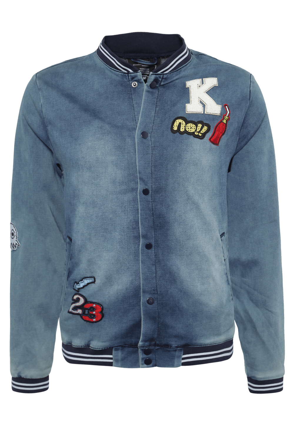 Jeans Bomberjacke mit Patches