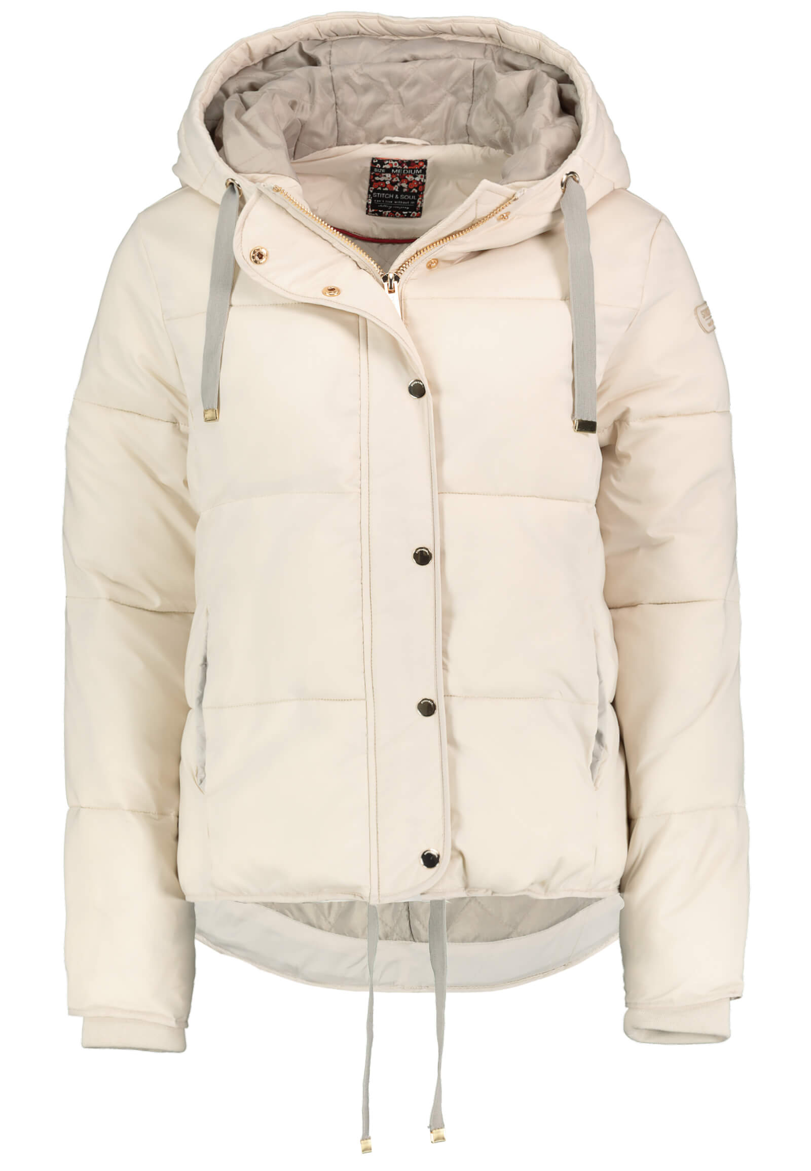 Pufferjacket beige