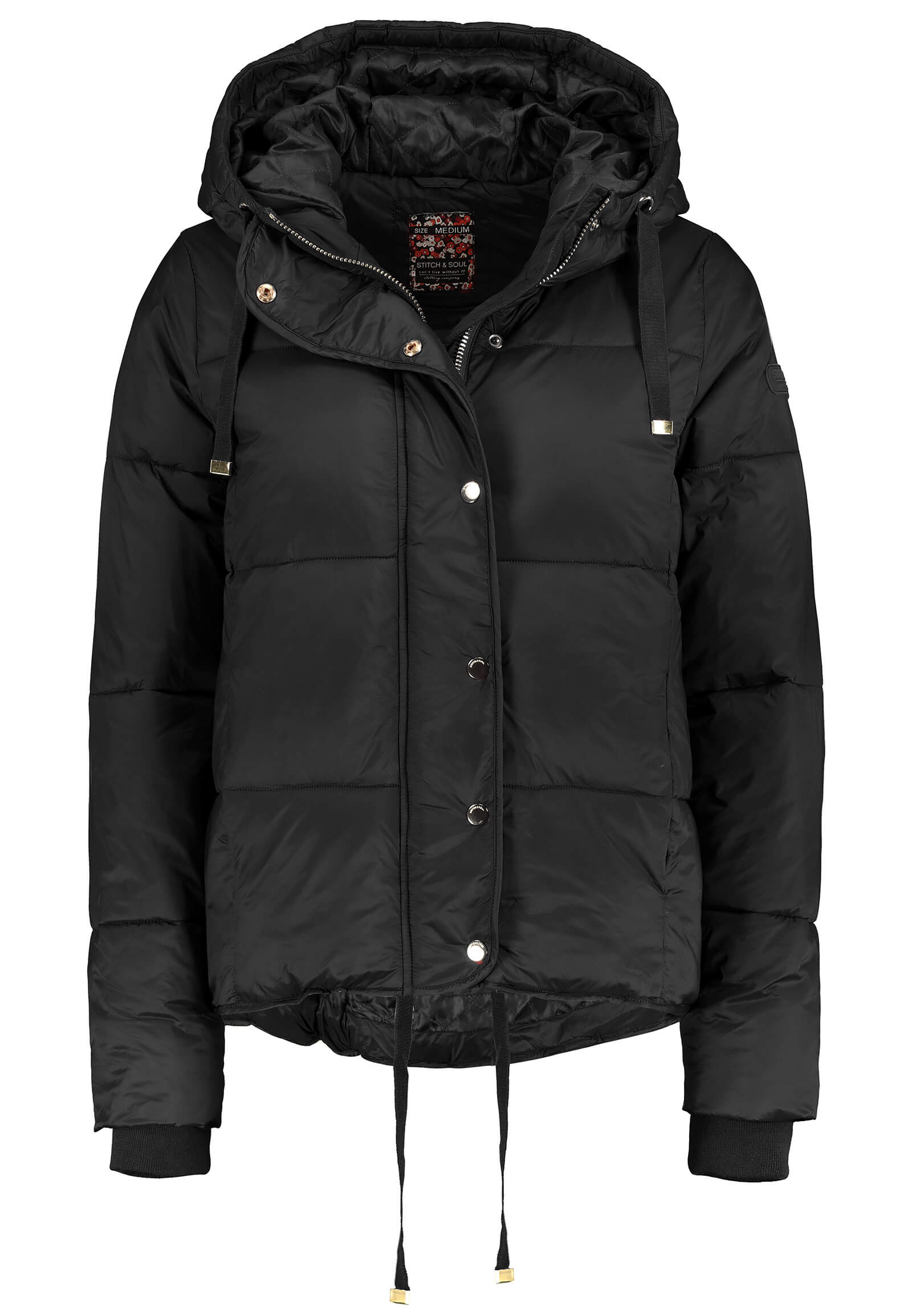 Pufferjacket schwarz